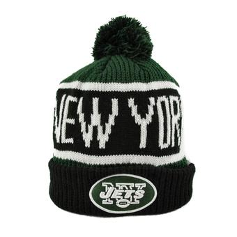 New York Jets '47 Brand Dark Green Calgary Cuff Knit w/Pom (Adult One Size)