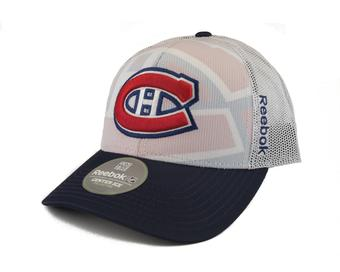 Montreal Canadiens Reebok White Draft Cap Structured Adjustable Hat (Adult One Size)