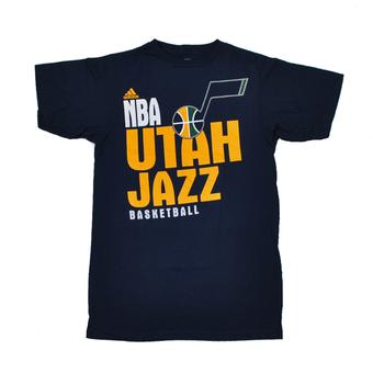 Utah Jazz Adidas The Go To Navy Tee Shirt (Adult L)
