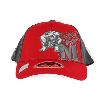 Maryland Terrapins Top Of The World Audible Two Tone Maroon & Grey One Fit Flex Hat (Youth One Size)