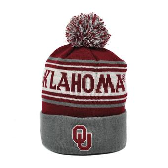 Oklahoma Sooners Top Of The World Youth Maroon & Gray Ambient Cuffed Pom Knit Hat (Youth One Size)