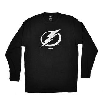 Tampa Bay Lightning Reebok Black Long Sleeve Thermal Shirt (Adult M)