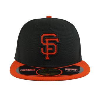 San Francisco Giants New Era Diamond Era 59Fifty Fitted Black & Orange Hat (7 3/4)
