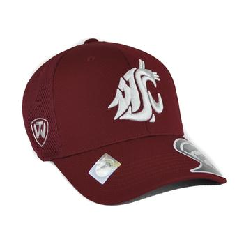 Washington State Cougars Top Of The World Resurge Crimson One Fit Flex Hat (Adult One Size)