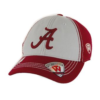 Alabama Crimson Tide Top Of The World Haymaker Two Tone Maroon & Grey One Fit Flex Hat (Youth One Size)