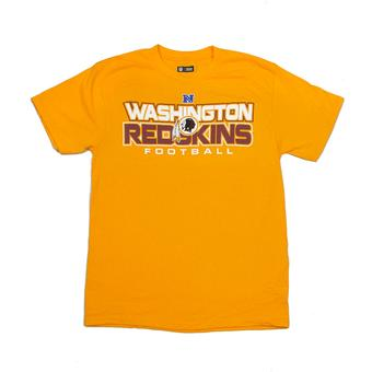 Washington Redskins Majestic Yellow All Time Great IV Tee Shirt (Adult L)