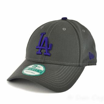 Los Angeles Dodgers New Era 9Forty Gray League Pop Adjustable Hat (Adult One Size)