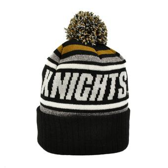 Central Florida Knights (UCF) Top Of The World Black Stryker Cuffed Pom Knit Hat (Adult One Size)