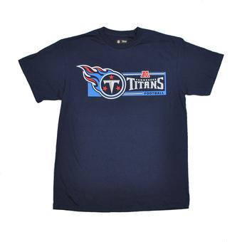 Tennessee Titans Majestic Navy Critical Victory VII Tee Shirt (Adult M)