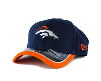 Denver Broncos New Era Navy Team Colors 39Thirty On Field Fitted Hat