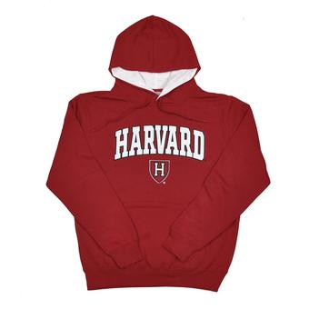 Harvard Crimson Colosseum Maroon Zone Pullover Fleece Hoodie (Adult L)