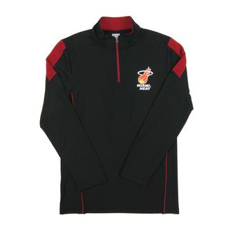 Miami Heat Majestic Black Status Inquiry Performance 1/4 Zip Long Sleeve