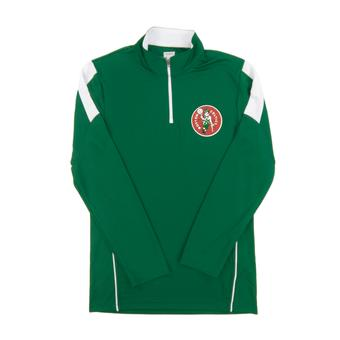 Boston Celtics Majestic Green Status Inquiry Performance 1/4 Zip Long Sleeve