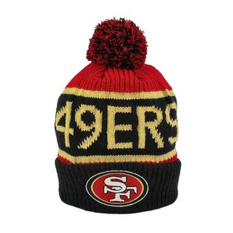 San Francisco 49ers '47 Brand Red Calgary Cuff Knit w/Pom (Adult One Size)