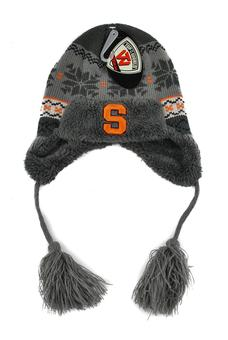 Syracuse Orange Top Of The World Gray Turbulent Tassle Knit Hat (Toddler)