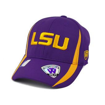 LSU Tigers Top Of The World Triumph Purple One Fit Flex Hat (Adult One Size)