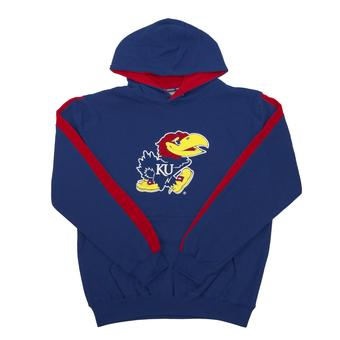 Kansas Jayhawks Colosseum Blue Youth Rally Pullover Hoodie (Youth XL)