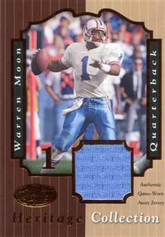 2000 Leaf Certified Heritage Collection Jersey #WM1A Warren Moon /100