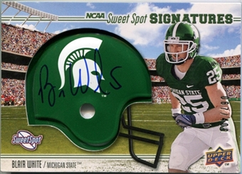 2010 Upper Deck Sweet Spot #102 Blair White /400 Rookie Autograph Helmet