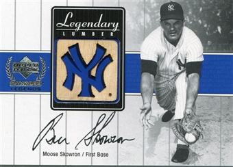 2000 Upper Deck Yankees Legends Legendary Lumber #MSLL Moose Skowron Game Bat