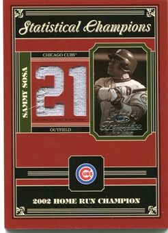2004 Timeless Treasures Statistical Champions Jersey #69 Sammy Sosa /21