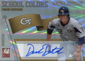 2010 Donruss Elite Extra Edition School Colors Autographs #20 Derek Dietrich /199