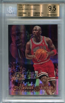 1996/97 Flair Showcase Row 1 #23 Michael Jordan BGS 9.5 Gem Mint