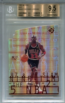 1997/98 Upper Deck UD3 MJ3 #MJ31 Michael Jordan BGS 9.5 Gem Mint