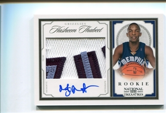 2009/10 Playoff National Treasures Rookie Patch Auto #202 Hasheem Thabeet /99