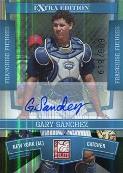 2010 Donruss Elite Extra Edition Franchise Futures Signatures #34 Gary Sanchez 619/669