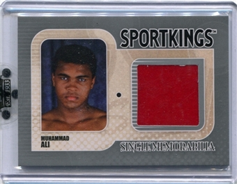 2010 Sportkings Single Memorabilia Silver #SM1 Muhammad Ali SP /26