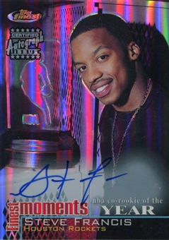 2000/01 Topps Finest Moments Refractors Autographs #FMSF Steve Francis