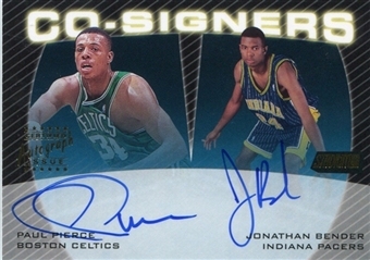 1999/00 Stadium Club Co-Signers Autograph #CS13 Paul Pierce Jonathan Bender