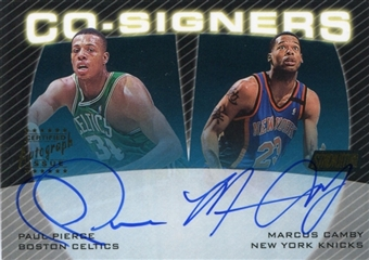 1999/00 Stadium Club Co-Signers Autograph #CS18 Paul Pierce Marcus Camby