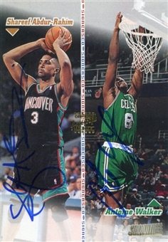 1998/99 Stadium Club Co-Signers Autograph #CO7 Shareef Abdur-Rahim Antoine Walker