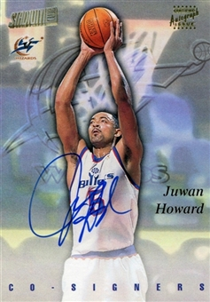1997/98 Stadium Club Co-Signers Autograph #CO9 Juwan Howard Clyde Drexler
