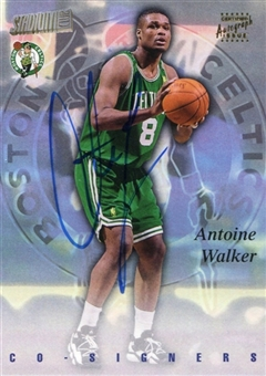 1997/98 Stadium Club Co-Signers Autograph #CO18 Antoine Walker Dikembe Mutombo