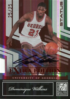 2007 Donruss Elite Extra Edition Signature Status #87 Dominique Wilkins /25