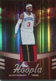 2009/10 Absolute Memorabilia Hoopla Materials Prime Patch #19 Allen Iverson 7/10