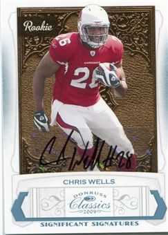 2009 Donruss Classics Significant Signatures Platinum #171 Chris Wells /25