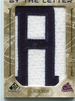 2006/07 SP Game Used By The Letter 'A' #BLRN Rick Nash 2/4