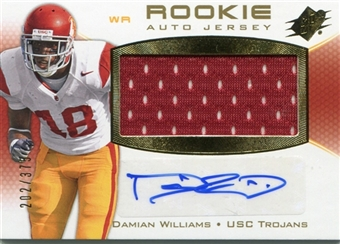 2010 Upper Deck SPx #124 Damian Williams /375 Rookie Auto Jersey