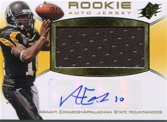 2010 Upper Deck SPx #129 Armanti Edwards /375 Rookie Auto Jersey