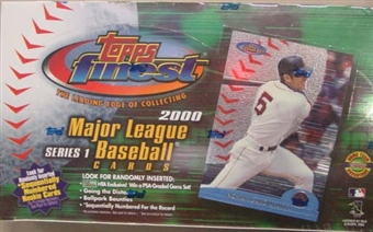 2000 Topps Finest Series 1 Baseball Jumbo Box