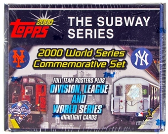2000 Topps Baseball Subway Series Factory Set (box) (Yankees/Mets) - Rare!