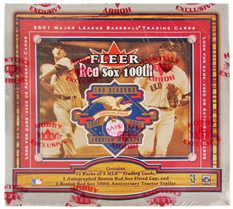 2001 Fleer Red Sox 100th Anniversary Legacy Baseball Hobby Box