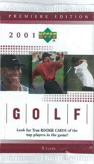 2001 Upper Deck Golf Retail Pack - Tiger Woods Rookie!