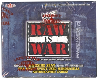2001 Fleer WWE / WWF Raw Is War Wrestling Hobby Box - RARE!