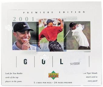 2001 Upper Deck Golf Hobby Box