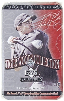 2001 Upper Deck Tiger Woods Collection Golf Tin Set Box